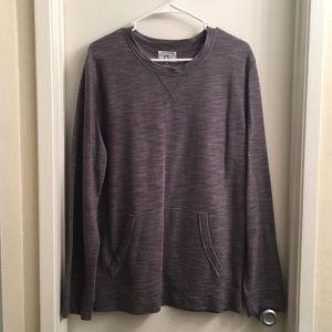 Converse gray long-sleeved sweatshirt